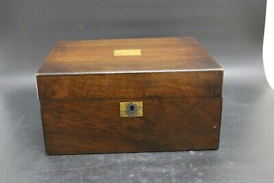 Antique Mahogany Wooden Writing Slope with brass inlay  (MS141)