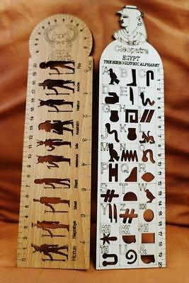 TWO Egyptian Ruler...Write your name in Ancient Egyptian hieroglyphics Education
