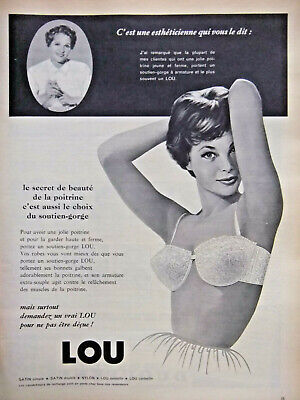Fine Publicite Advertising 014 1961 Lou Jeune France Soutien Gorge Collectibles