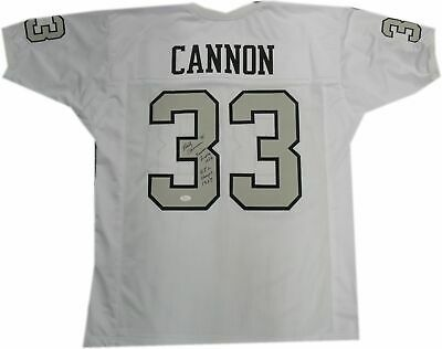 bd509a7f1 Billy Cannon Signed Autographed Jersey Raiders White AFL Champs 1967 JSA  WP23996