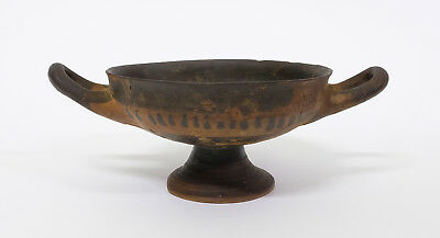 Original Small Antique Greek Pottery Tazza Traditional Decoration c500 BC