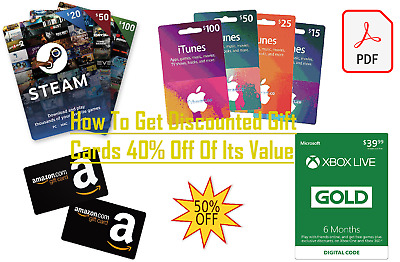 How To Get Discounted Gift Cards 40% Off Of Its Value Netflix Amazon iTunes ....