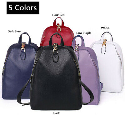 100% Genuine Cow Leather Women Backpack Fashion Female Designer Casual Bags