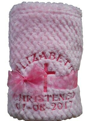 Personalised Baby Blanket, birth/christening gift, choice of colours & designs