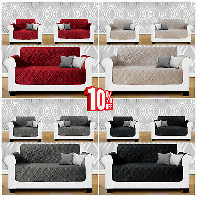 New Large Quilted Sofa Protector Throw 1,2,3 Seater Waterproof Sofa Slip Cover