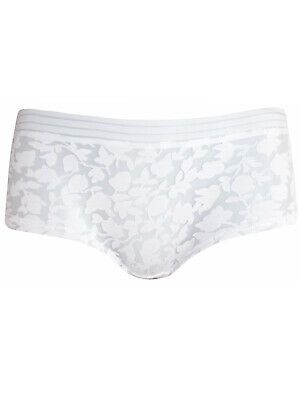 Burnout sexy White Floral Ladies Shorts Boxers Knickers Pants 10 16 18 underwear