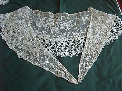 ** Vintage Lace - Large Shawl Collar With Later Addition  [Mm]