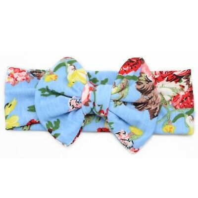 Baby Kids Girl Children Bowknot Print Floral Hair Band Turban Knot Headband #8