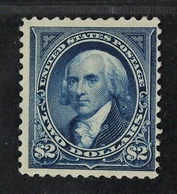 CKStamps: US Stamps Collection Scott#262 $2 Mint H OG Light Gum Crease CV$2750