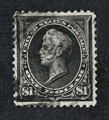 CKStamps: US Stamps Collection Scott#276 $1 Perry Used Tiny Thin CV$100