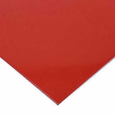 """Red Painted Aluminum Sheet, 0.040"""" x 12"""" x 24"""""""