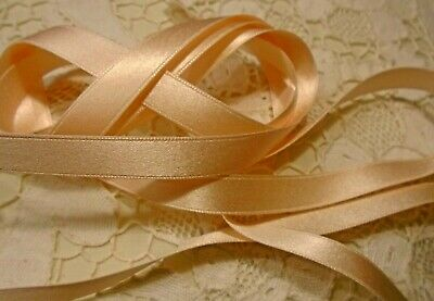 """BRIGHT RED #14 3//8/"""" DOUBLE FACE SILK SATIN RIBBON-BY THE 2 YD PC"""