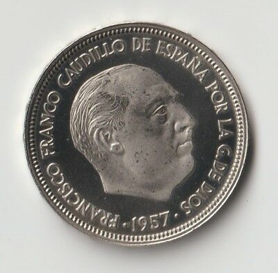 Franco Moneda De 50 Pesetas Estrella 73 Proof. De Cartera