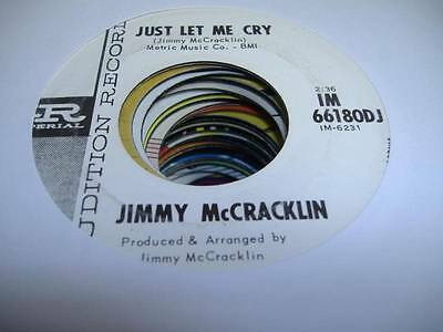 HEAR! Rockabilly Promo 45 JIMMY MCCRACKLIN Just Let Me Cry on Imperial (PROMO)