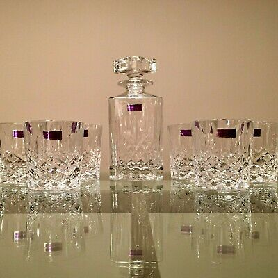Crystal Glassware - Marquis By Waterford Markham, Decanter w/ six tumblers