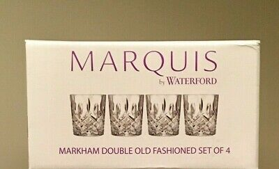 Crystal Glassware - Marquis By Waterford Markham, Old Fashioned Glasses, 4 Set
