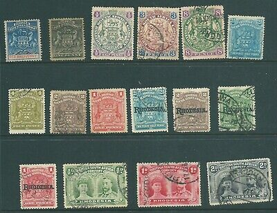 BRITISH SOUTH AFRICA COMPANY used stamp collection from Queen Victoria onwards