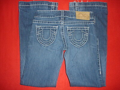 cce5356ff Womens True Religion Candace Natural Big T Blue Jeans size 28 ( 29 W X 31 L