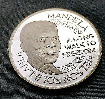 Nelson Mandela Silver Coin Medal South Africa Walk to Freedom Legend Peace Maker