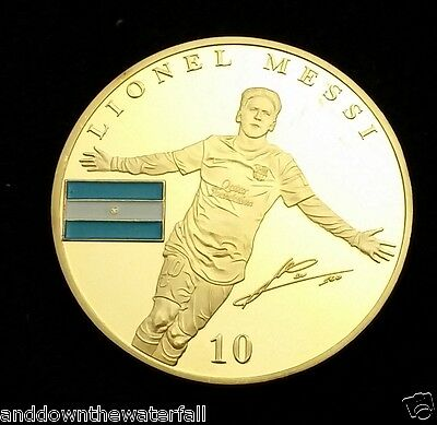 Lionel Messi FC Barcelona 1899 Gold Coin Argentina Signed Footballer Star Legend