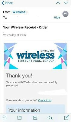 Wireless Official 2019 tickets