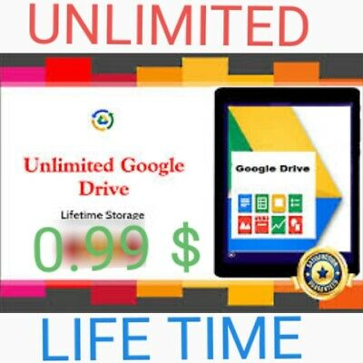 Unlimited Google Drive On Existing Acc  Life Time