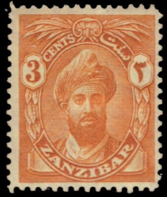 "ZANZIBAR 185 (SG300) - Sultan  Khalifa bin Harub ""1926 Yellow Orange"" (pa94785)"