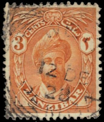 "ZANZIBAR 185 (SG300) - Sultan  Khalifa bin Harub ""1926 Yellow Orange"" (pa94786)"