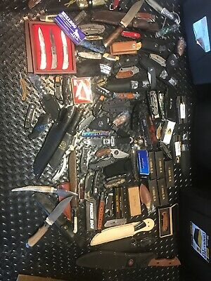 Huge Lot Of Assorted Fixed And Folding Knives - 110+ Knives