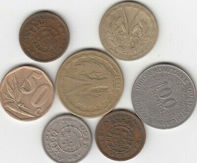 Lot 7 coins from Africa , Lot #33 ***Free Ship***