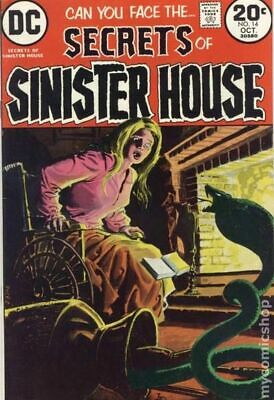 Secrets of Sinister House #14 1973 VG+ 4.5 Stock Image Low Grade