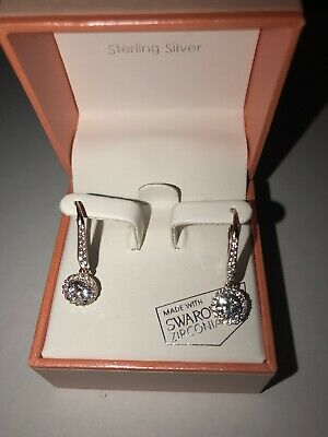 Kiera Couture Rose Gold Over Sterling Silver Swarovski Drop Earrings