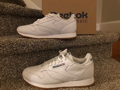 bda7c8c4f21 Reebok Classic Leather 49797 White Gum Sole Mens Shoes Fashion Sneakers  Size 11
