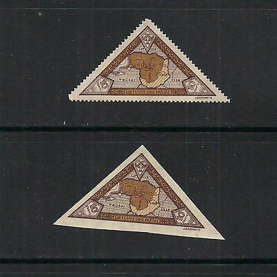 LITHUANIA: pair of  #C48 map of Lithuania airmail stamps – MH --