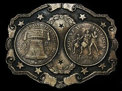 Mi17142 *Nos* Vintage 1976 **200 Years Of Freedom Bicentennialp** Belt Buckle
