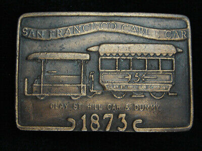 QE05127 VINTAGE 1970s **SAN FRANCISCO CABLE CAR** COMMEMORATIVE BELT BUCKLE