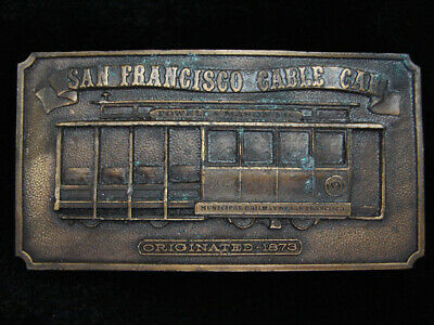 Pj01144 Vintage 1976 **San Francisco Cable Car** Commemorative Bergamot Buckle