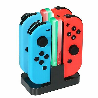 Chargeur Nintendo Switch Manettes Joy-Con avec Indicateur LED 4 en 1