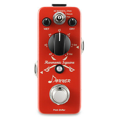 Donner Digital Octave Guitar Effect Pedal Harmonic Square 7 modes Local Shipping