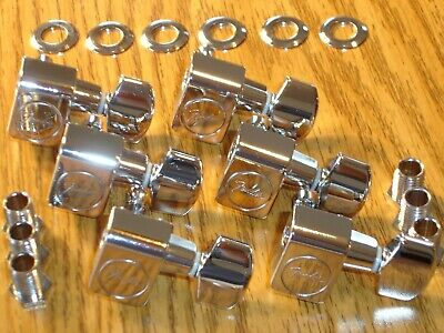 6 Fender Logo Strat Tele TUNERS TUNING PEGS Stratocaster American Special