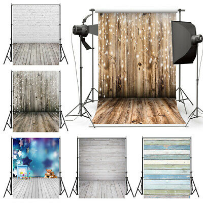 Retro Wood Plank Wall Floor Photography Backdrop Studio Photo Background CA T4Q3