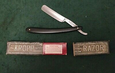 Kropp vintage straight razor in box 1920s