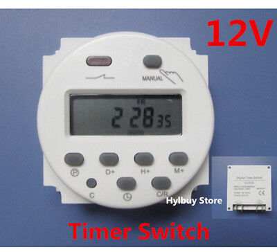 DC12V Digital LCD Display PLC Programmable Time counter Timer switch Relay 16A