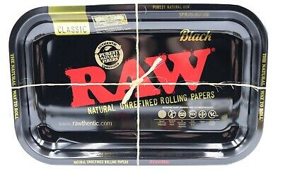 Raw Rolling Papers Black Tray 11x7 Limited Edition - vintage style - RAWthentic!