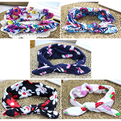 Headband for Newborn Kids Multi Color Baby Print Floral Hair Band Girls Bow-knot