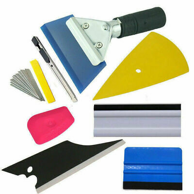 8 PCS Car Window Tint Wrapping Vinyl Tools Squeegee Scraper Applicator Kits