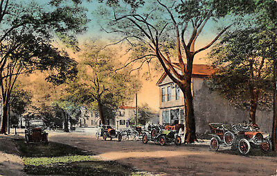 FARMINGTON, CT ~ POST OFFICE & AUTOS ~ AUGUST SCHMELZER CO., PUB. ~ c. 1920s