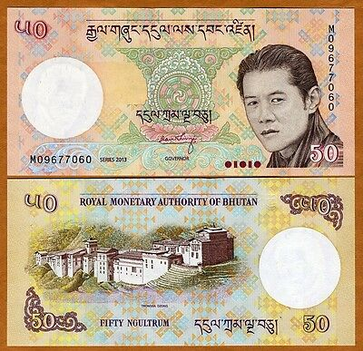 Bhutan, Kingdom, 50 Ngultrum, 2013 P-New, New Signature, UNC
