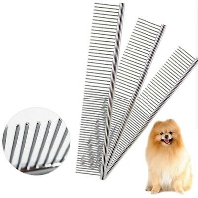 Pet Grooming Comb Stainless Steel Trimmer Dog Cat Shedding Flea Hair Brush Tool