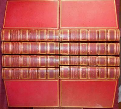 DUKE of WELLINGTON DISPATCHES/8 FINE LEATHER BOOKS/WODEHOUSE/ RARE 1852 $3000+
